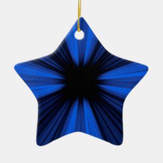 Ornamento De Cerâmica Linhas azuis da velocidade