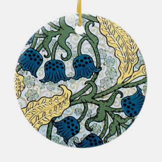 Ornamento De Cerâmica Lírio azul do teste padrão do vale
