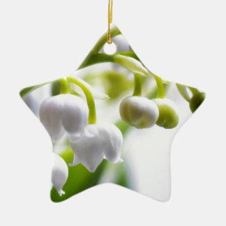 Ornamento De Cerâmica Lírio das flores do vale