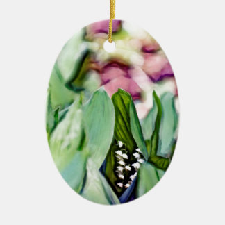 Ornamento De Cerâmica Lírio das flores do vale escondidas nas folhas