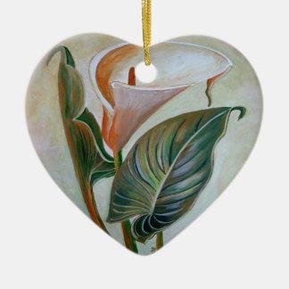 Ornamento De Cerâmica Lírio de Calla
