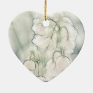 Ornamento De Cerâmica Lírio do buquê da flor do vale