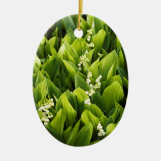 Ornamento De Cerâmica Lírio do remendo da flor do vale