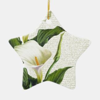 Ornamento De Cerâmica Lírios de Calla bonitos