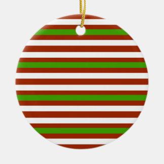Ornamento De Cerâmica Listra branca vermelha verde