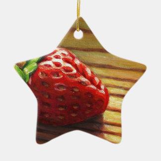Ornamento De Cerâmica Listra da morango
