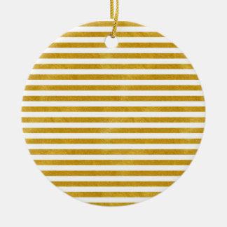 Ornamento De Cerâmica Listra elegante do ouro - costume sua cor
