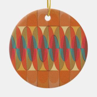 Ornamento De Cerâmica Listra ondulada da cor