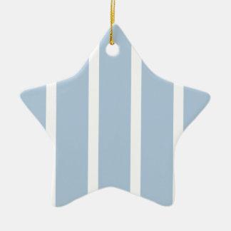 Ornamento De Cerâmica Listras azuis e brancas chiques!