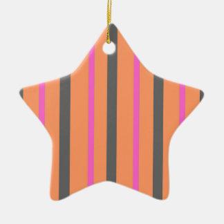 Ornamento De Cerâmica Listras da laranja de Hollywood