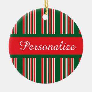 Ornamento De Cerâmica Listras do Natal
