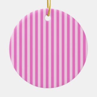 Ornamento De Cerâmica Listras finas - cor-de-rosa e rosa escuro