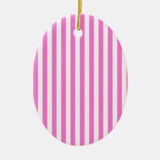 Ornamento De Cerâmica Listras finas - luz - cor-de-rosa e rosa escuro