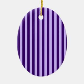 Ornamento De Cerâmica Listras finas - luz - violetas e violeta escura