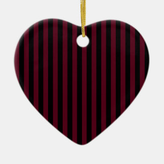 Ornamento De Cerâmica Listras finas - pretas e escarlate escuro
