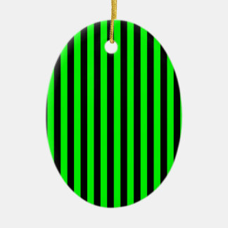Ornamento De Cerâmica Listras finas - pretas e verde elétrico