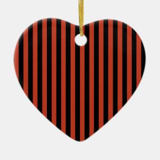 Ornamento De Cerâmica Listras finas - pretas e vermelho Pastel escuro