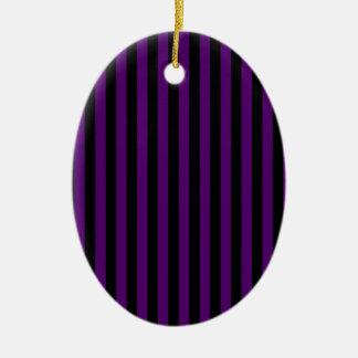 Ornamento De Cerâmica Listras finas - pretas e violeta escura