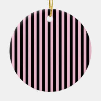Ornamento De Cerâmica Listras finas - preto e algodão doce