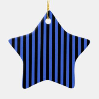 Ornamento De Cerâmica Listras finas - preto e azuis marinhos
