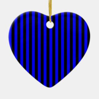 Ornamento De Cerâmica Listras finas - preto e azul