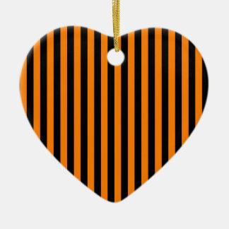 Ornamento De Cerâmica Listras finas - preto e laranja