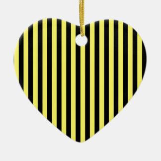 Ornamento De Cerâmica Listras finas - preto e limão