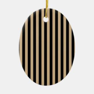 Ornamento De Cerâmica Listras finas - preto e Tan