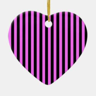 Ornamento De Cerâmica Listras finas - preto e ultra rosa