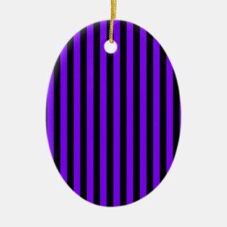 Ornamento De Cerâmica Listras finas - preto e violeta