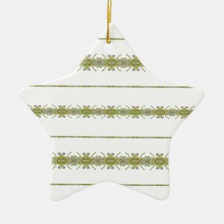Ornamento De Cerâmica Listras florais étnicas