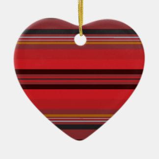 Ornamento De Cerâmica Listras - horizonte vermelho