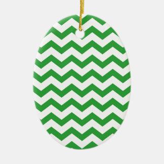 Ornamento De Cerâmica listras verdes da viga