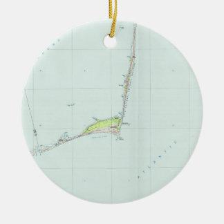 Ornamento De Cerâmica Litoral nacional Mapa de Hatteras do cabo (1985)