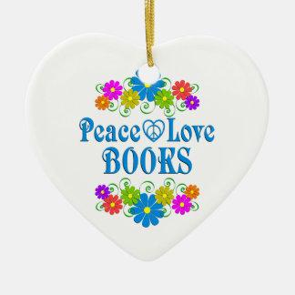 Ornamento De Cerâmica Livros do amor da paz