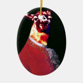 Ornamento De Cerâmica Llamadeus 2
