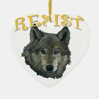 Ornamento De Cerâmica Lobo da resistência