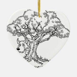 Ornamento De Cerâmica Lobo do conto de fadas e desenhos animados maus