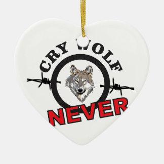 Ornamento De Cerâmica lobo farpado do grito nenhum