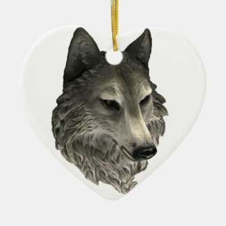 Ornamento De Cerâmica Lobo mau grande