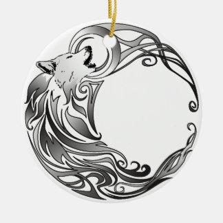 Ornamento De Cerâmica Lobo tribal - protegido
