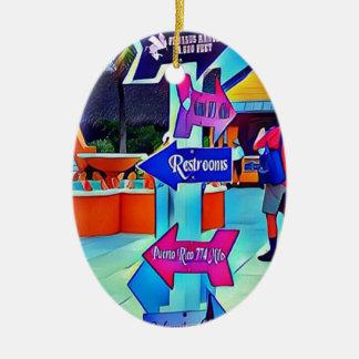 Ornamento De Cerâmica Locais de repouso esse pop art de Digitas da