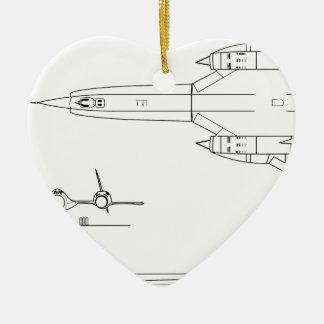 Ornamento De Cerâmica Lockheed_YF-12A_3view