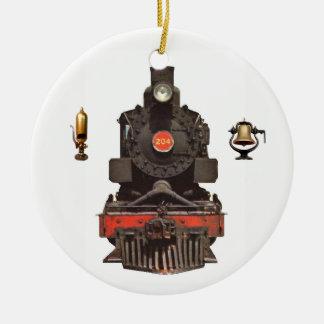 Ornamento De Cerâmica Locomotiva de vapor