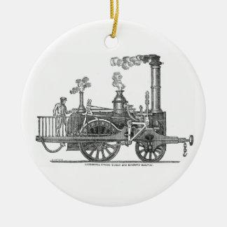 Ornamento De Cerâmica Locomotiva de vapor adiantada