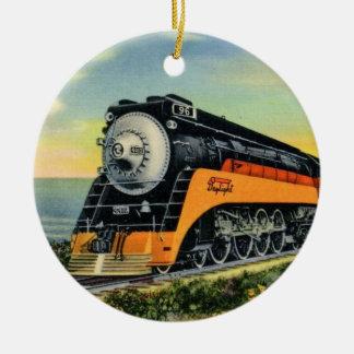 Ornamento De Cerâmica Locomotiva de vapor aerodinamizada