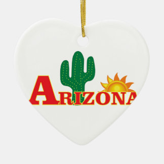 Ornamento De Cerâmica Logotipo da arizona simples