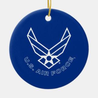Ornamento De Cerâmica Logotipo da força aérea - azul