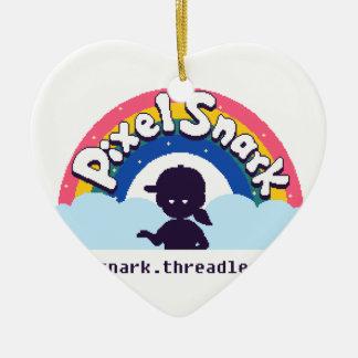 Ornamento De Cerâmica Logotipo de PixelSnark