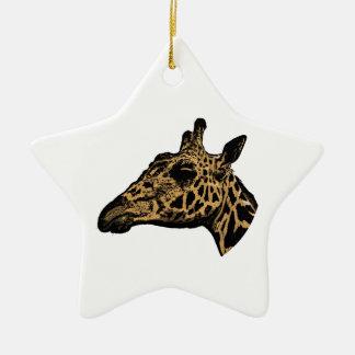 Ornamento De Cerâmica Logotipo do girafa
